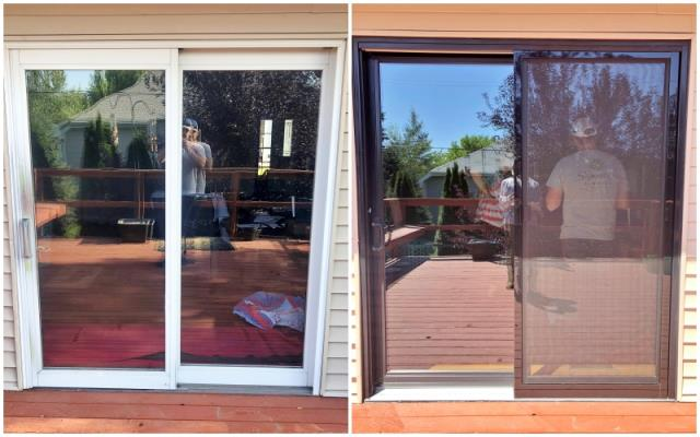 Scottsbluff, NE - This Scottsbluff home upgraded their old patio door to a new Renewal by Andersen door.  We love the updated, fresh look and the energy savings they'll receive!