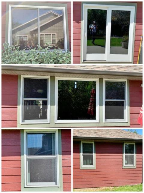Bozeman, MT - This Bozeman home upgraded their windows and patio door to Renewal by Andersen Fibrex products.