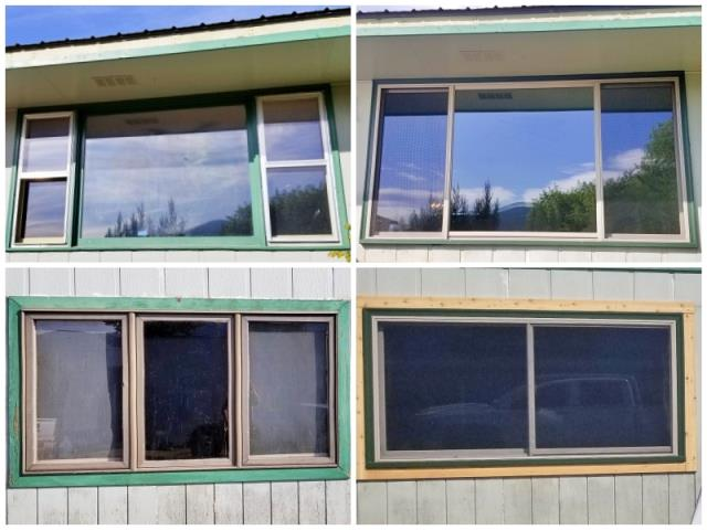 Thompson Falls, MT - This Thompson Falls home updated their old windows with new Renewal by Andersen Fibrex windows, increasing their energy efficiency and home value.