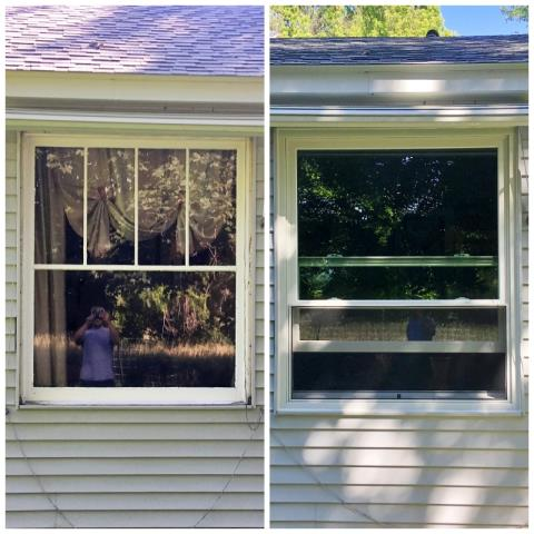 Hamilton, MT - This Hamilton home upgraded their old windows to Renewal by Andersen Fibrex, increasing efficiency and curb appeal!