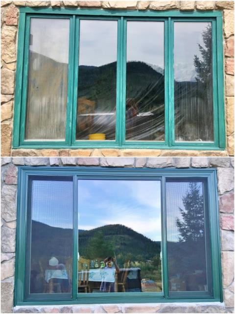 Huson, MT - This Huson home upgraded their old wooden windows to Renewal by Andersen Fibrex windows, increasing energy efficiency, home value, and visual appeal.