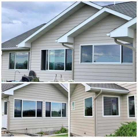 Helena, MT - We love the modern, updated look of this Helena home with their new Renewal by Andersen Fibrex windows.
