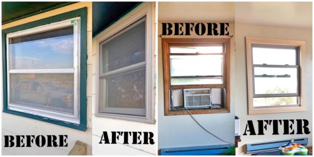 Sturgis, SD - This Sturgis home replaced their old, falling apart windows with Renewal by Andersen Fibrex, increasing functionality, energy efficiency, home value, and curb appeal.