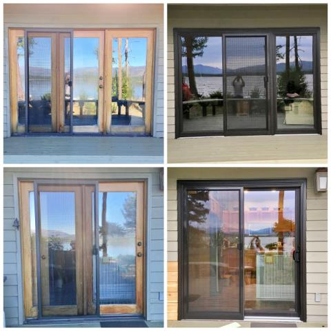 Seeley Lake, MT - This Seeley Lake home upgraded their patio doors to new, more modern and efficient Renewal by Andersen Fibrex doors.