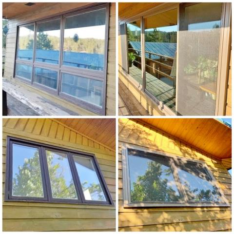 Clancy, MT - This Clancy home upgraded their old wood windows to Renewal by Andersen Fibrex windows, increasing efficiency, home value, and curb appeal.