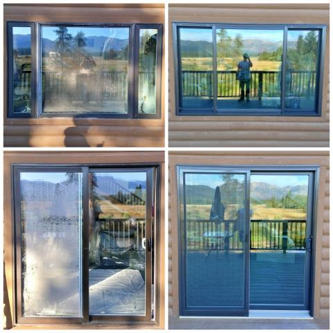 Seeley Lake, MT - This Seeley Lake home upgraded their old windows and patio door to Renewal by Andersen Fibrex products!