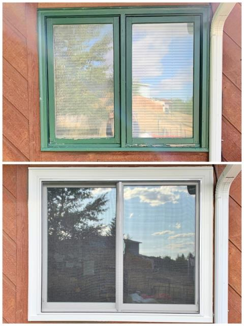 Hanna, WY - This Hanna home upgraded their old wooden windows to Renewal by Andersen maintenance-free Fibrex windows.