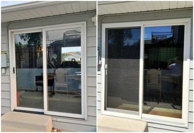 Douglas, WY - This Douglas home upgraded their patio door to a Renewal by Andersen Fibrex door.