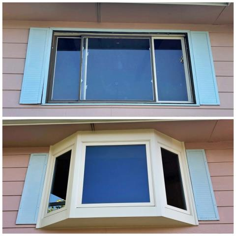 Douglas, WY - This Douglas home upgraded their old window to a new Renewal by Andersen Fibrex bay!