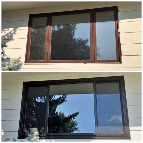 Casper, WY - This Casper home upgraded their old windows to more efficient Renewal by Andersen Fibrex windows.