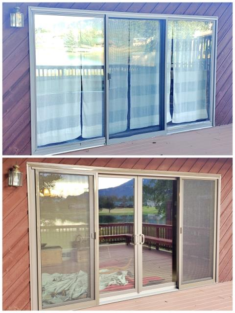 Red Lodge, MT - This Red Loge home replaced their three panel perma-shield gliding door with a four panel Renewal by Andersen Caroline gliding door.