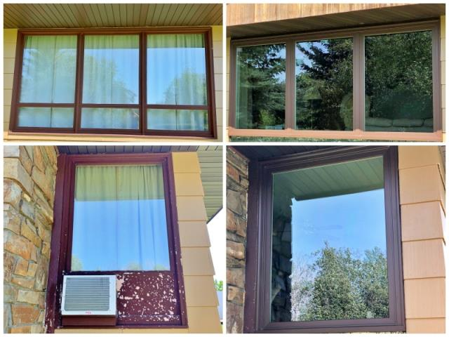 Big Sandy, MT - This Big Sandy home upgraded their old windows to Renewal by Andersen Fibrex, increasing efficiency and curb appeal!