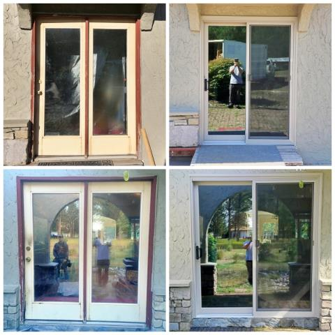 Kalispell, MT - This Kalispell home upgraded their patio doors to Renewal by Andersen Fibrex, increasing efficiency, clarity, and curb appeal.