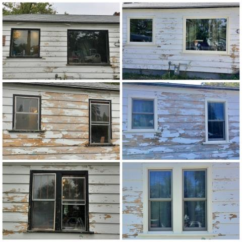 Kalispell, MT - This Kalispell home is sprucing up its curb appeal starting with new windows!  Their Renewal by Andersen Fibrex windows are both visually pleasing and energy efficient!