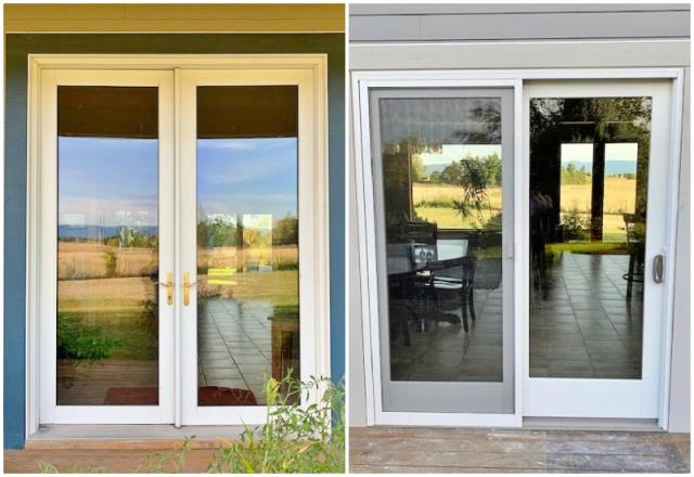 Bozeman, MT - This Bozeman home upgraded their swinging Frenchwood door to a Renewal by Andersen 400 series slider.