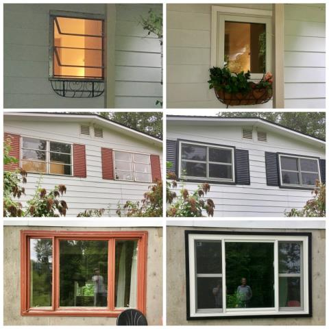 Bigfork, MT - This Bigfork home upgraded their old aluminum windows to new Renewal by Andersen Fibrex windows.