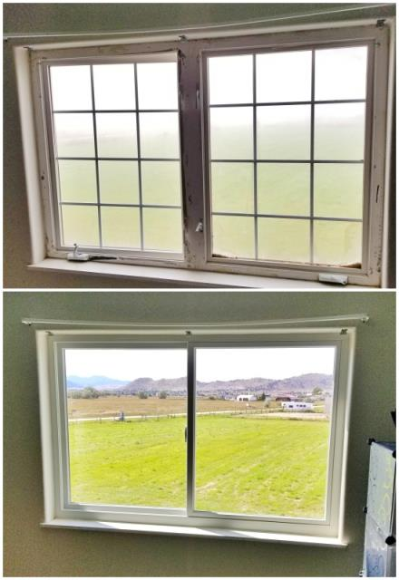 Helena, MT - This Helena home upgraded their old windows to Renewal by Andersen Fibrex windows, increasing clarity and efficiency.