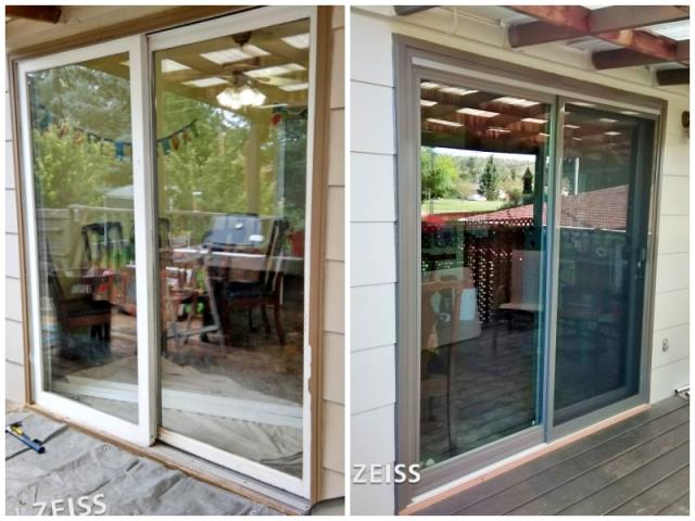 Rapid City, SD - This Rapid City home upgraded their inoperable patio door to a Renewal by Andersen Fibrex slider.