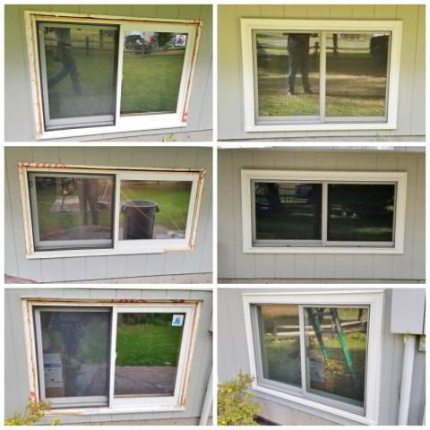 Clinton, MT - This Clinton home upgraded their old windows to Renewal by Andersen Fibrex, increasing energy efficiency and curb appeal.