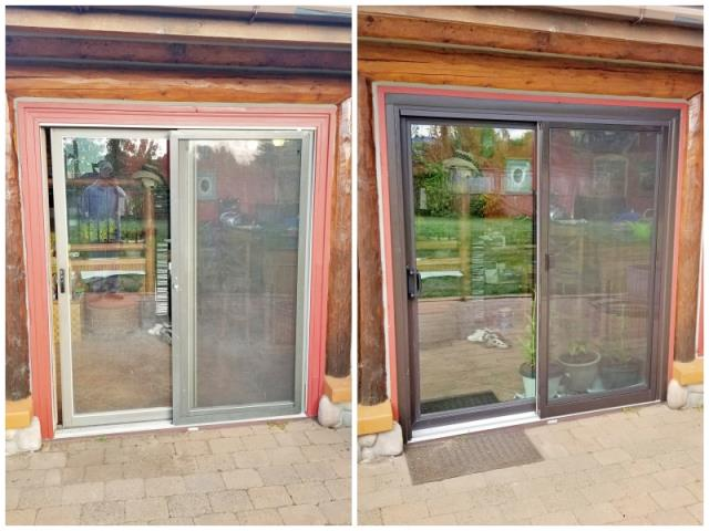Darby, MT - This Darby home upgraded their patio door to a Renewal by Andersen Fibrex slider, increasing energy efficiency and curb appeal.