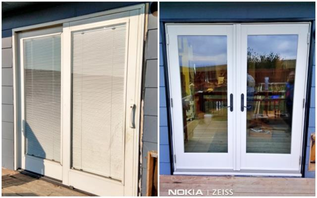 Moorcroft, WY - This Moorcroft home upgraded their old patio door to a beautiful new Renewal by Andersen French door.