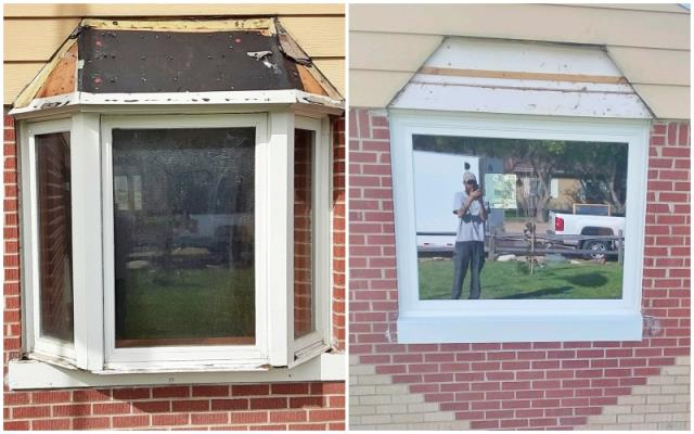 Cheyenne, WY - This Cheyenne home upgraded their old wood windows to Renewal by Andersen Fibrex windows.