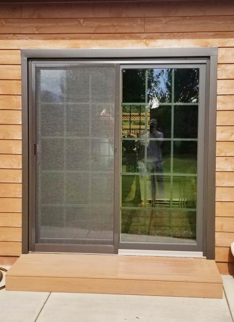Stevensville, MT - This Stevensville home upgraded their patio door to a Renewal by Andersen door.