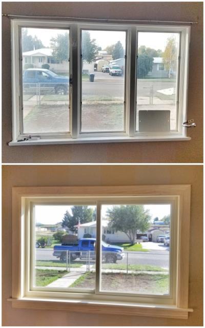 Deer Lodge, MT - This Deer Lodge home upgraded their old wooden windows to Renewal by Andersen Fibrex windows, increasing energy efficiency, clarity and curb appeal.