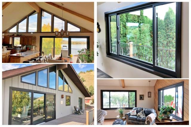 Helena, MT - This Helena home is enjoying their beautiful views through new energy efficient, crystal clear Renewal by Andersen Fibrex windows.