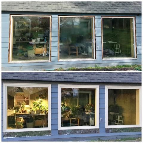 Ronan, MT - We can't believe this transformation!  This Ronan home upgraded their old wood windows to new Renewal by Andersen Fibrex windows, enhancing their energy efficiency and increasing their curb appeal and clarity.