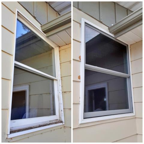 Hartville, WY - This Guernsey home upgraded their windows to Renewal by Andersen Fibrex, increasing energy efficiency and curb appeal.