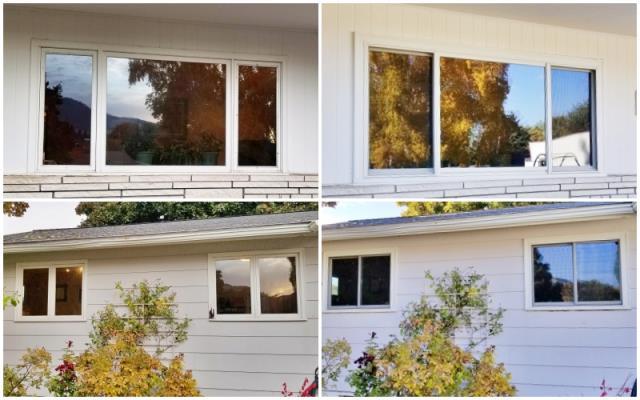 Missoula, MT - This Missoula home upgraded their old wood windows to Renewal by Andersen Fibrex windows, increasing their energy efficiency.