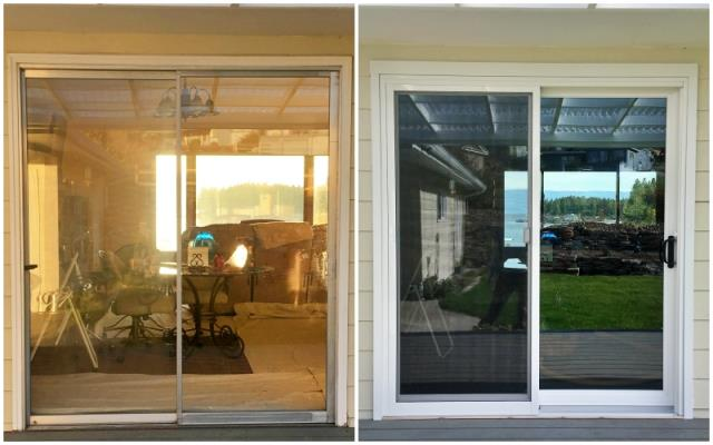 Lakeside, MT - This Lakeside home upgraded their patio door to a Renewal by Andersen Fibrex door, increasing energy efficiency and curb appeal.