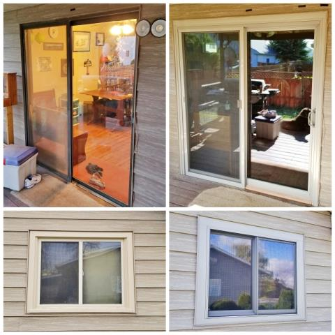 Stevensville, MT - This Stevensville home upgraded their old windows and patio door to new Renewal by Andersen products.