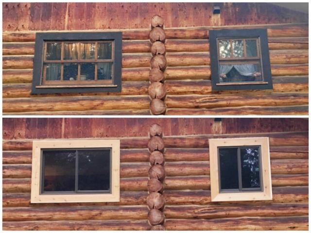 Kila, MT - This Kila home upgraded their old windows to Renewal by Andersen Fibrex, increasing energy efficiency.