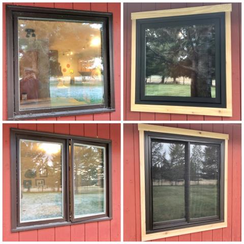 Helena, MT - This Helena home upgraded their old windows to energy efficient Renewal by Andersen Fibrex windows.