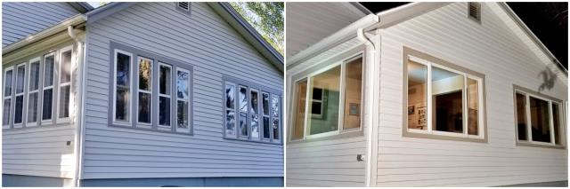 Rapid City, SD - This Rapid City home upgraded their old wood windows to more efficient Renewal by Andersen Fibrex.