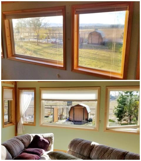 Hamilton, MT - This Hamilton home upgraded their windows to Renewal by Andersen Fibrex, and we are loving their enhanced clarity.  What a gorgeous view to enjoy!