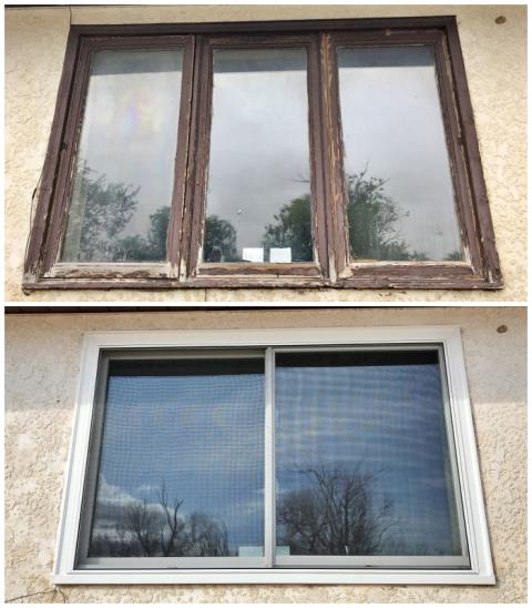 Yoder, WY - This Yoder home upgraded their old windows to more efficient, visually appealing Renewal by Andersen FIbrex windows.
