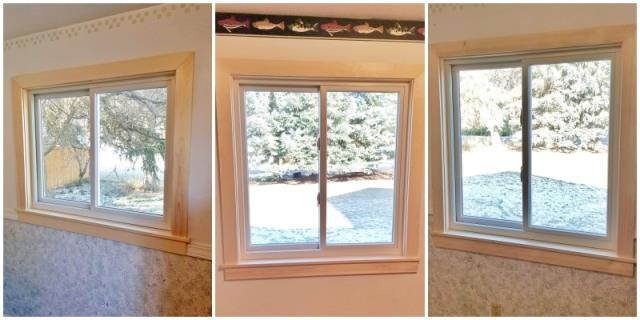 Missoula, MT - This Missoula home is enjoying their wintery views behind the warmth and insulation of these crystal clear Renewal by Andersen Fibrex windows.