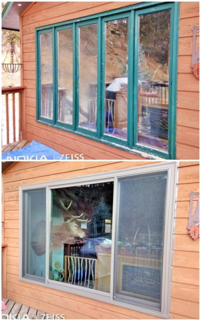 Hill City, SD - This Hill City home upgraded their old drafty window to a Renewal by Andersen Fibrex window, increasing energy efficiency.
