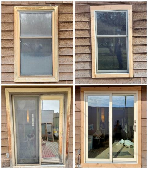 Three Forks, MT - This Three Forks home had a major face-lift when they upgraded their old wooden windows and patio door to new Renewal by Andersen Fibrex products!