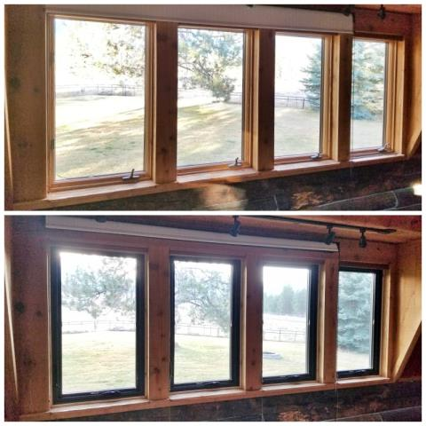 Victor, MT - This Victor home upgraded their old windows to sleek, new Renewal by Andersen Fibrex windows.