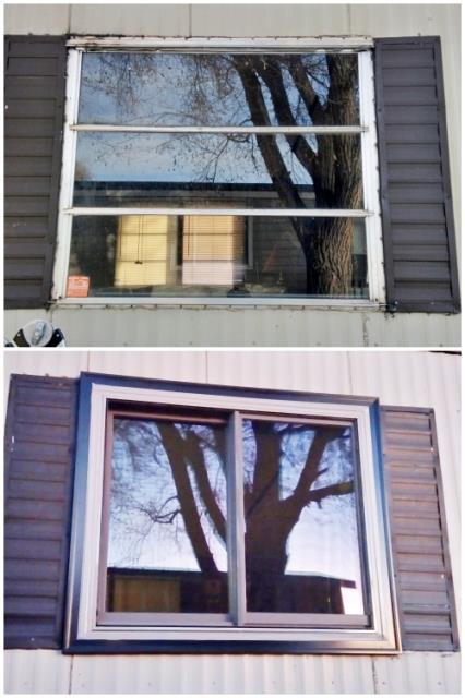 Rapid City, SD - This Rapid City home upgraded their old aluminum windows to Renewal by Andersen Fibrex, increasing energy efficiency and visual appeal.
