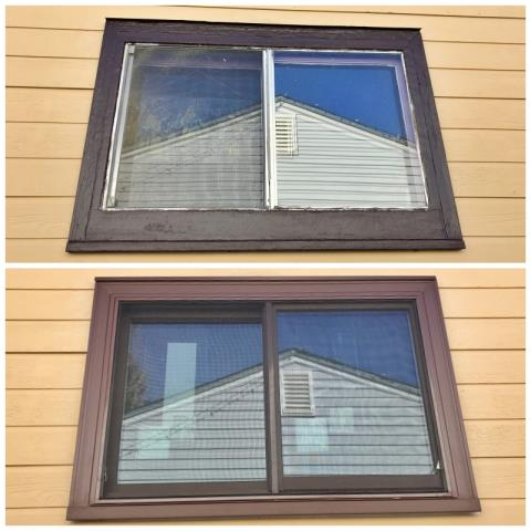 Cheyenne, WY - This Cheyenne home upgraded their old wood windows to new Renewal by Andersen Fibrex windows.