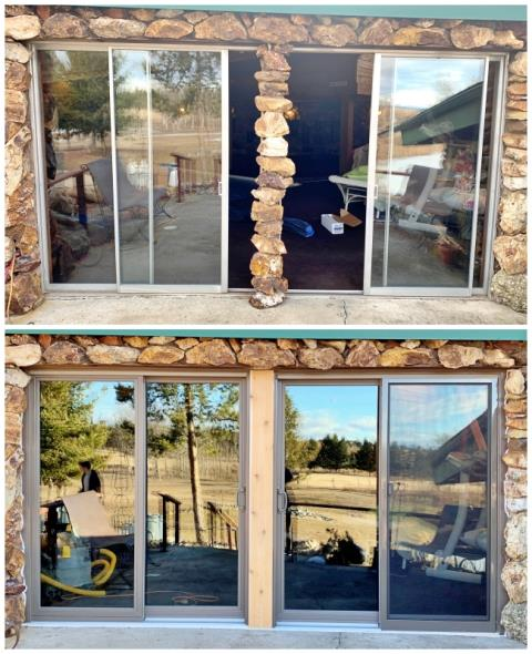 Butte, MT - This Butte home upgraded their patio doors to Renewal by Andersen Fibrex sliders, increasing efficiency and curb appeal.