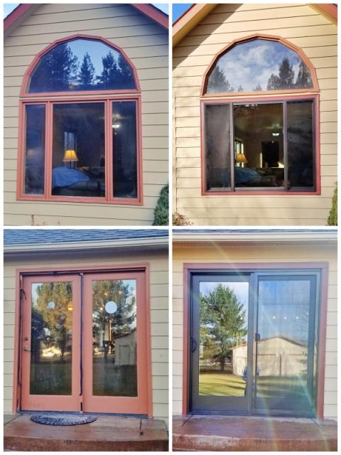 Missoula, MT - This Missoula home upgraded their windows and patio door to Renewal by Andersen Fibrex products.