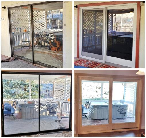 Billings, MT - This Billings home upgraded their old aluminum glider patio door with a Renewal by Andersen Fibrex A-Series glider, increasing efficiency and curb appeal.