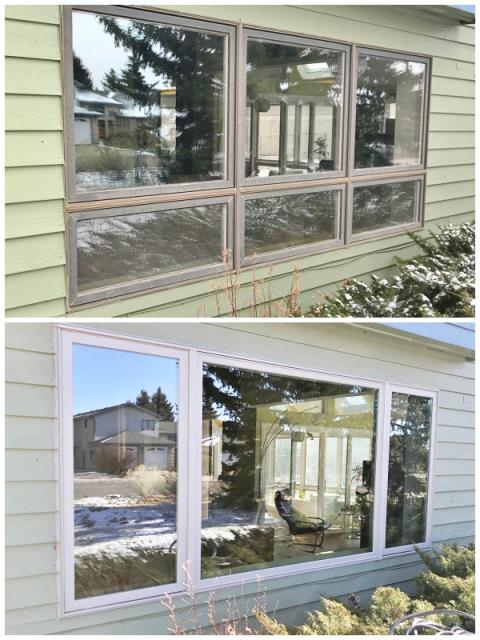 Laramie, WY - This Laramie home upgraded their old windows to new Renewal by Andersen Fibrex.
