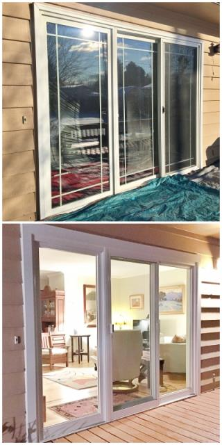 Helena, MT - This Helena home upgraded their old patio door with a more efficient Renewal by Andersen Fibrex glider.